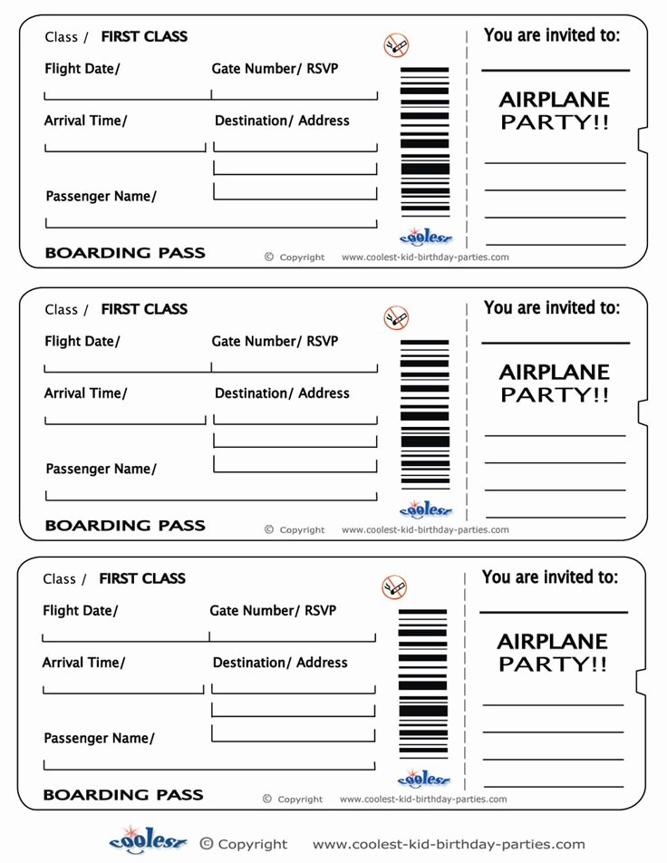 Free Boarding Pass Template Elegant Printable Airplane Boarding Pass Invitations Coolest