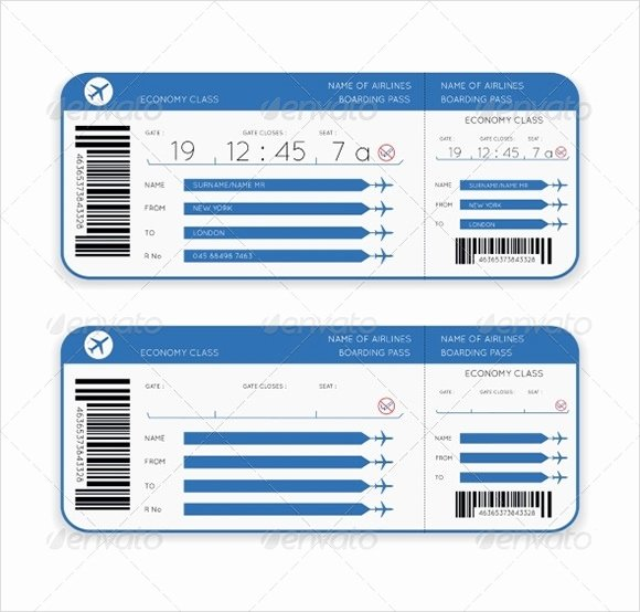 Free Boarding Pass Template Fresh 10 Boarding Pass Samples