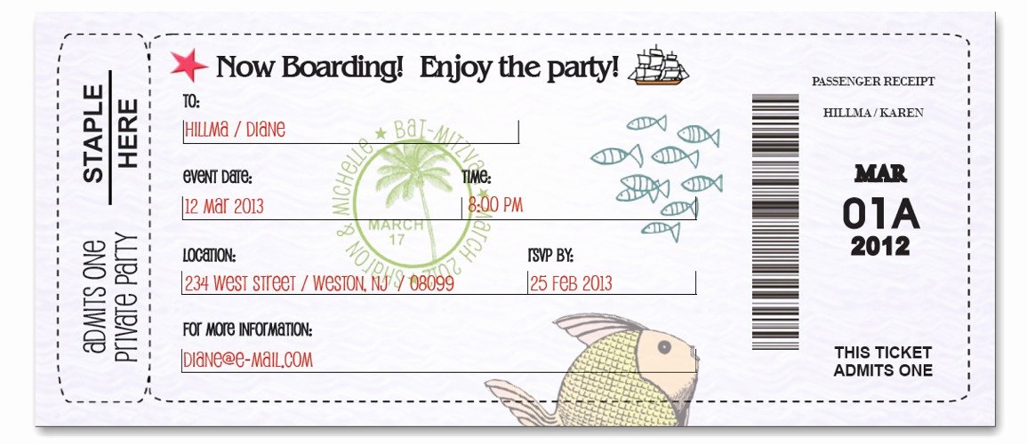 Free Boarding Pass Template Fresh Boarding Pass Fun Custom Passport Invitations