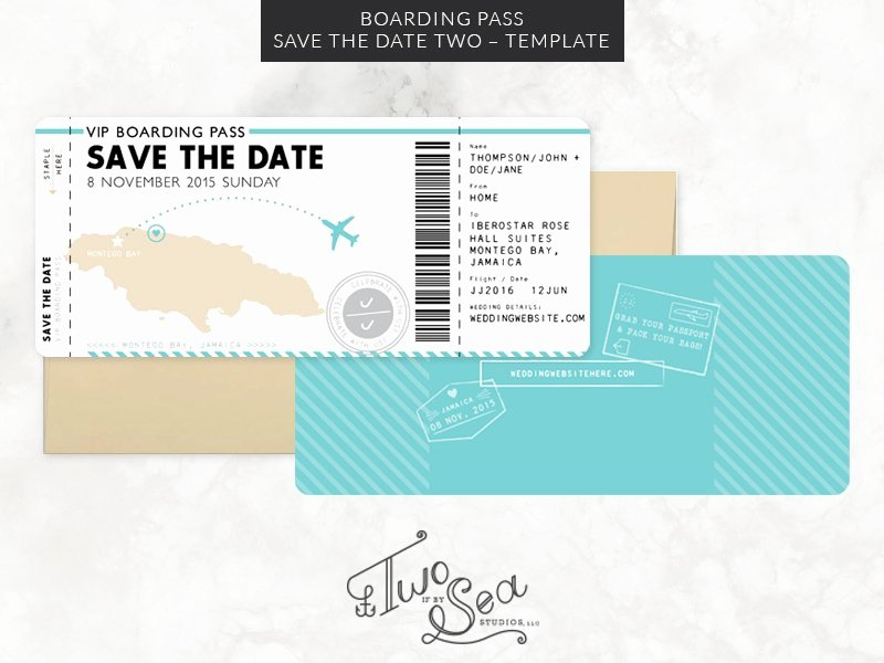 Free Boarding Pass Template Inspirational Boarding Pass Save the Date Template Invitation