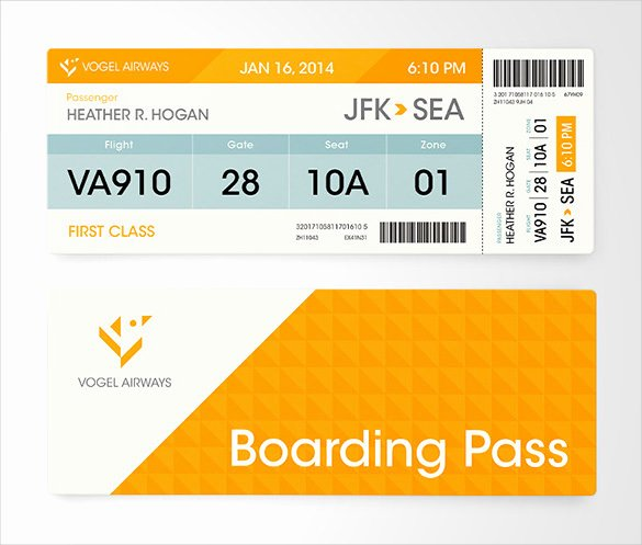 Free Boarding Pass Template Lovely 33 Examples Of Boarding Pass Design & Templates Psd Ai