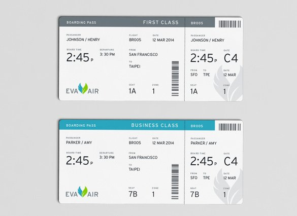 Free Boarding Pass Template New 33 Examples Of Boarding Pass Design & Templates Psd Ai