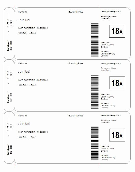 Free Boarding Pass Template New Boarding Pass Invitation Save the Date Template Basic