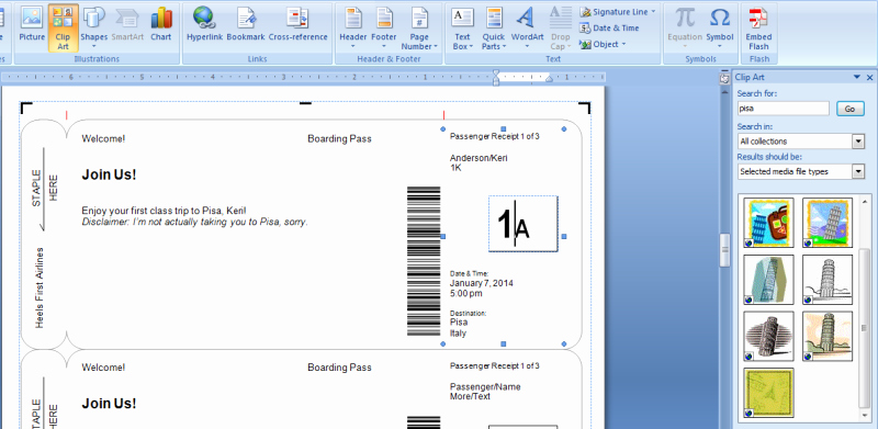 Free Boarding Pass Template Unique Making Fake Boarding Passes as Gifts Le Chic Geek