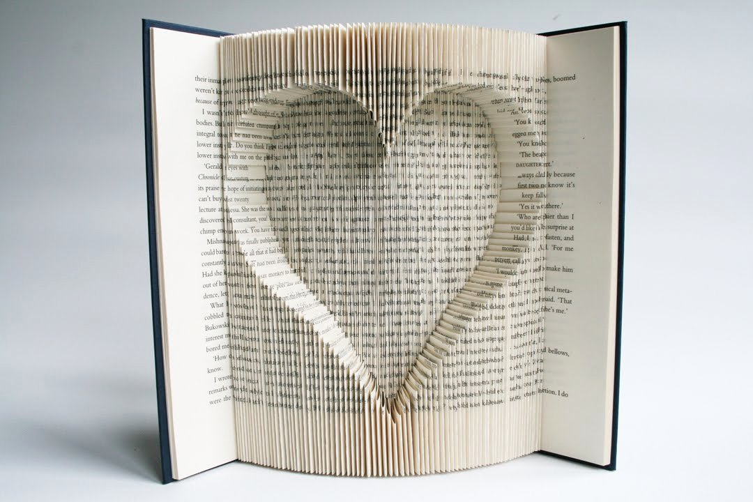 Free Book Folding Template Awesome Book Folding Tutorial Inverted Heart