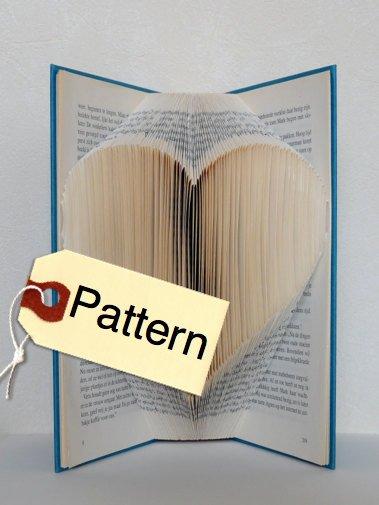 Free Book Folding Template Awesome Bookfolding Pattern Heart English