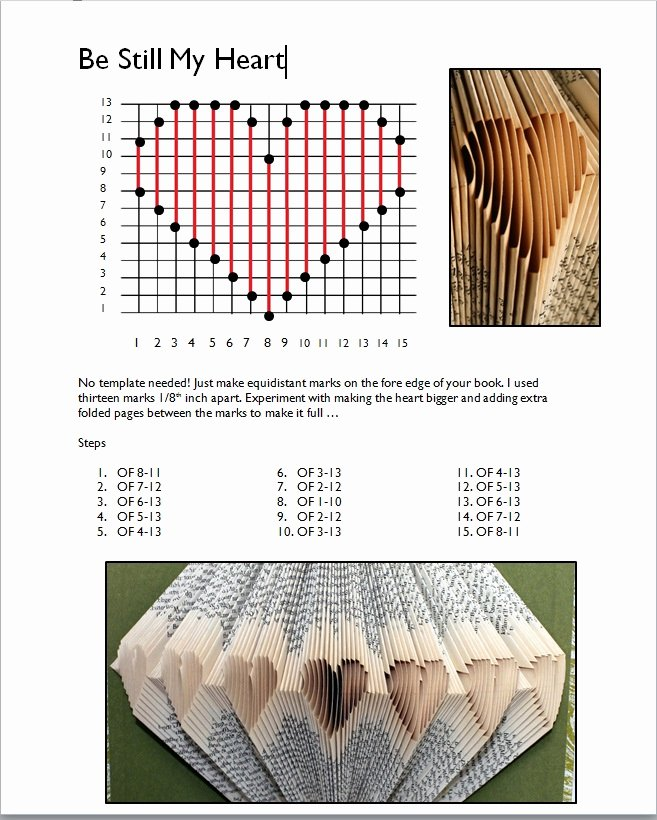 Free Book Folding Template Awesome Rhymes with Magic Be Still My Heart Pattern