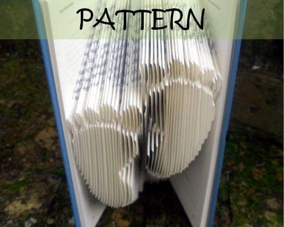 Free Book Folding Template Fresh Book Folding Pattern Footprints Design Including