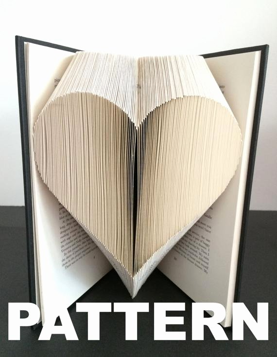 Free Book Folding Template Lovely Book Folding Pattern Heart Free Instructions Great for