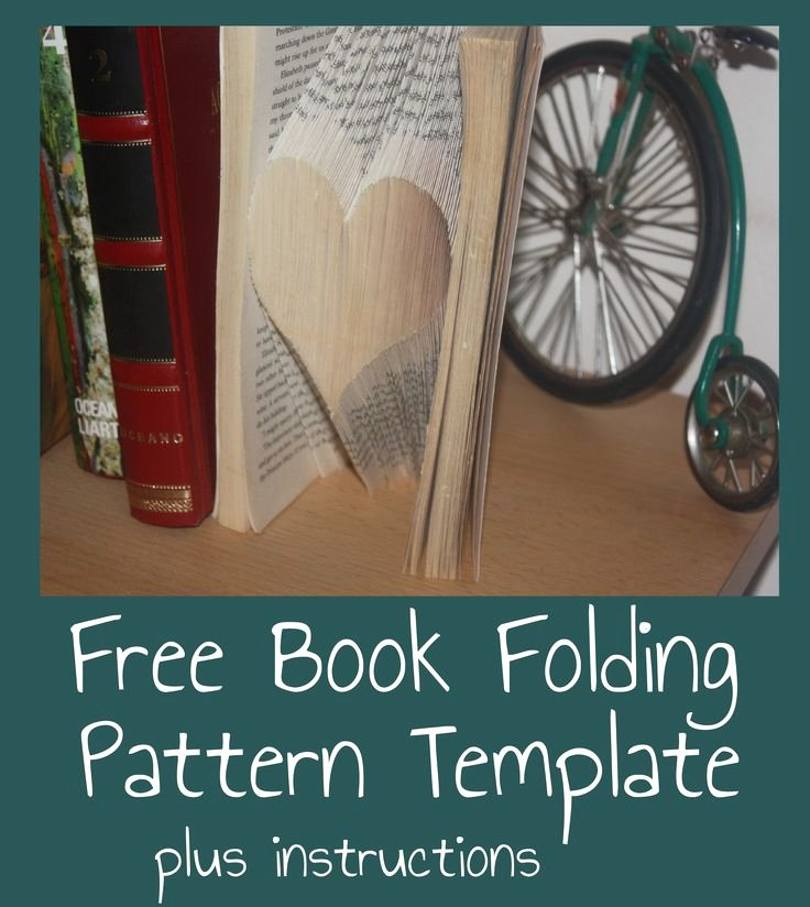 Free Book Folding Template Lovely Free Heart Book Folding Pattern Template and Instructions