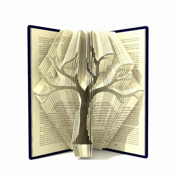 Free Book Folding Template New Book Folding Pattern Family Tree 295 Folds Tutorial