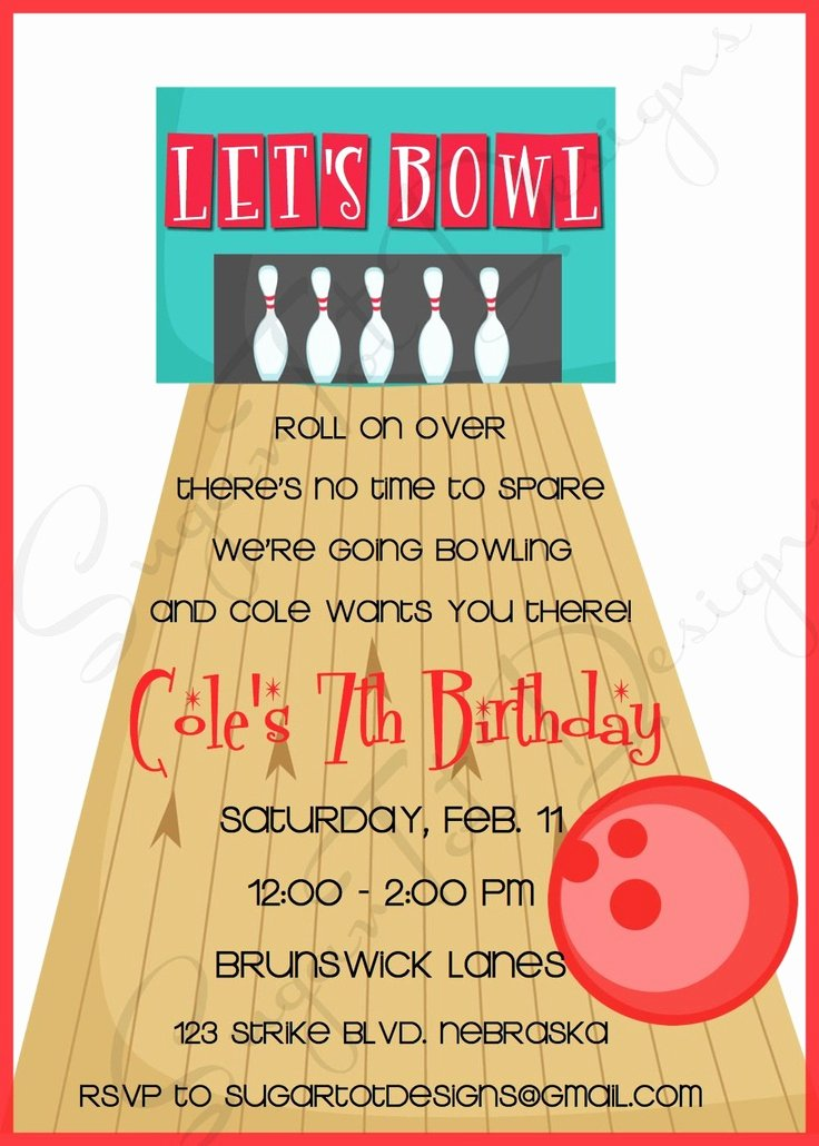 Free Bowling Invitation Template Beautiful 17 Best Images About Bowling Bash On Pinterest