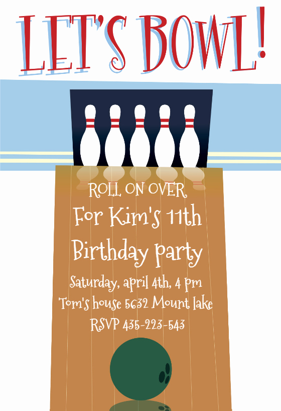 Free Bowling Invitation Template Best Of A Night Out Bowling Birthday Invitation Template Free