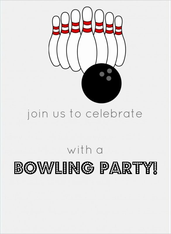 Free Bowling Invitation Template Inspirational 7 Free Sample Bowling Game Invitation Templates