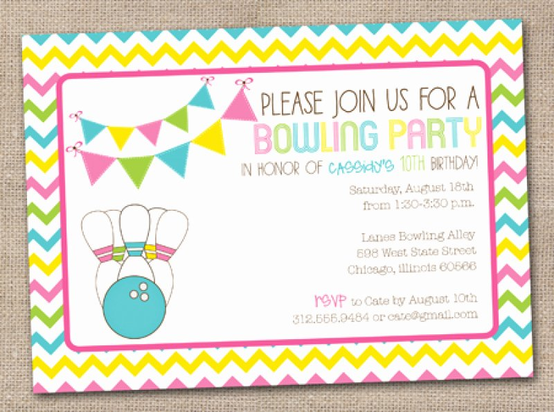 Free Bowling Invitation Template Inspirational Bowling Birthday Party Invitation Free Printable