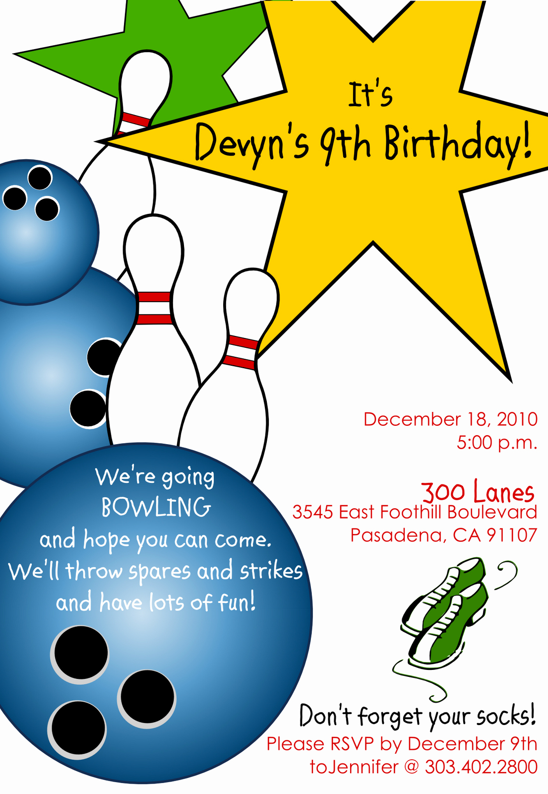 Free Bowling Invitation Template Luxury Free Printable Bowling Birthday Invitations
