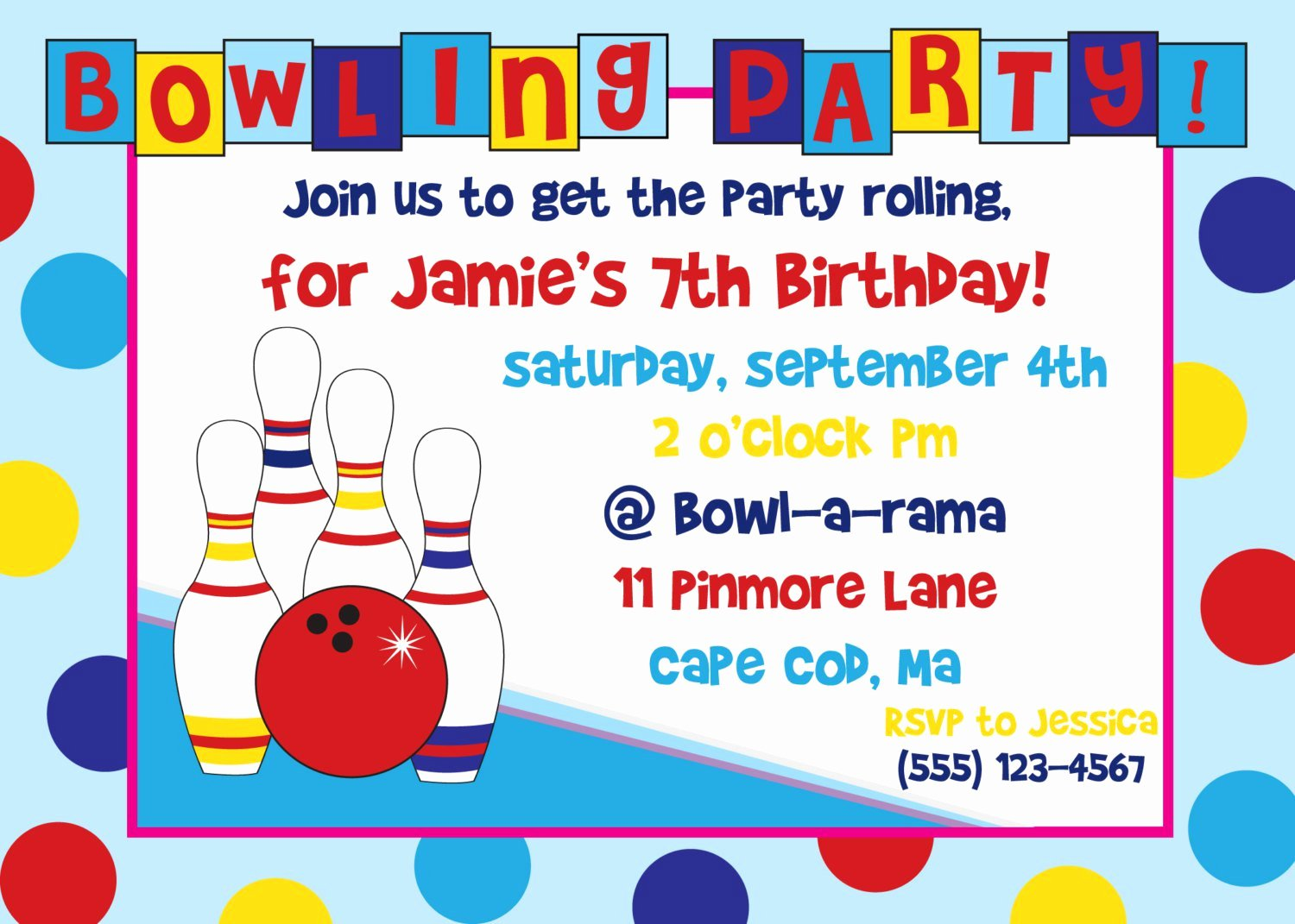 Free Bowling Invitations Template Awesome Free Bowling Birthday Party Invitations Print