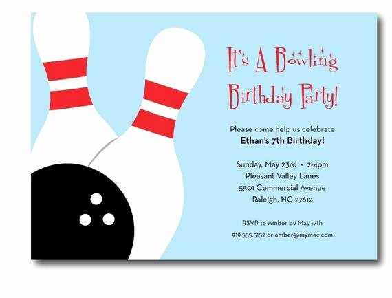 Free Bowling Invitations Template Elegant Bowling Birthday Party Invitation Printable
