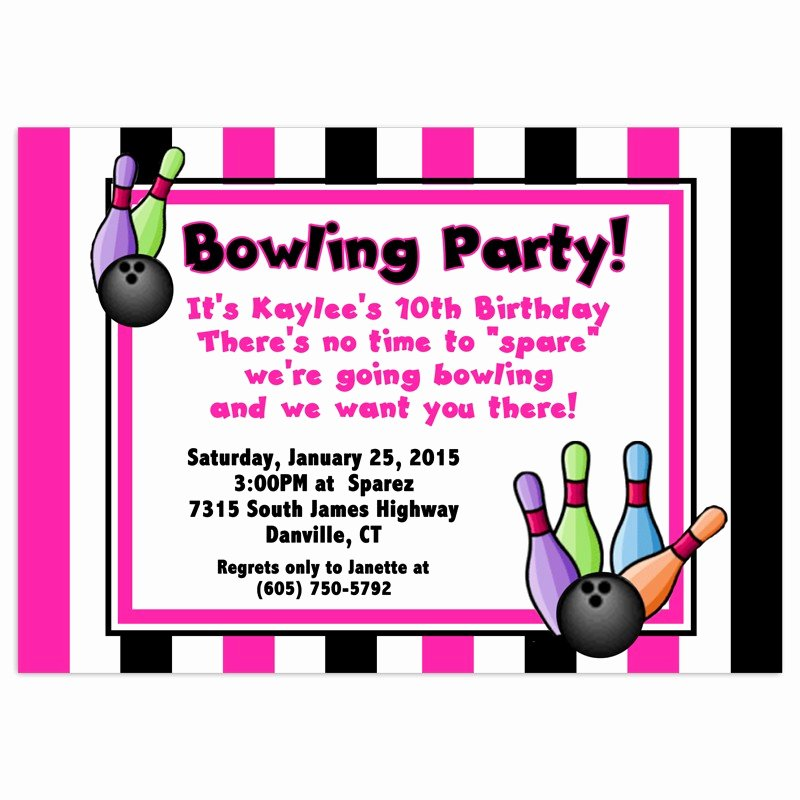 Free Bowling Invitations Template Elegant Free Bowling Birthday Party Invitations Template