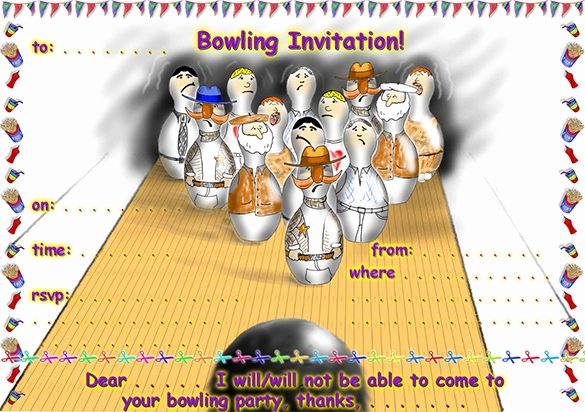 Free Bowling Invitations Template Inspirational 24 Outstanding Bowling Invitation Templates & Designs