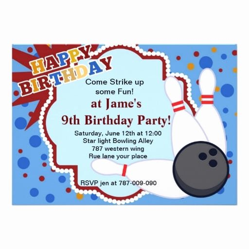 Free Bowling Invitations Template Lovely Free Bowling Birthday Invitation Template