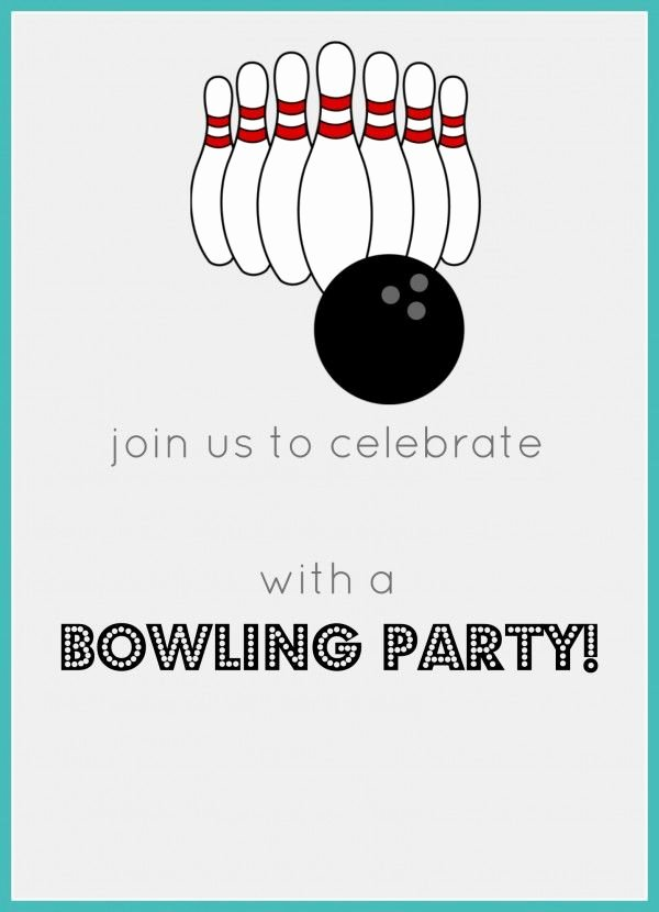 Free Bowling Invitations Template Lovely Free Printable Bowling Birthday Party Invitation