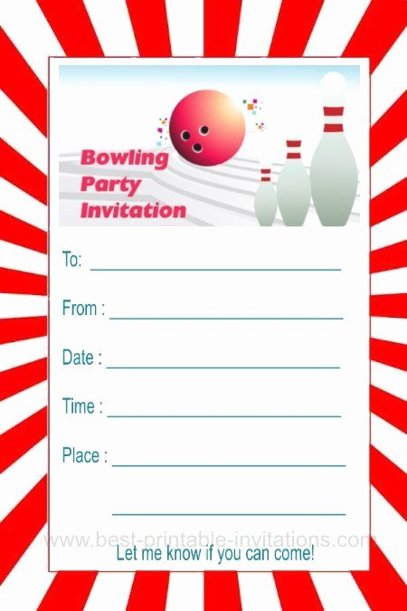 Free Bowling Invitations Template Unique Bowling Party Invitations