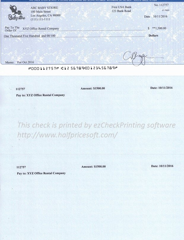 Free Business Check Template New Ezcheckprinting Business Sample Checks