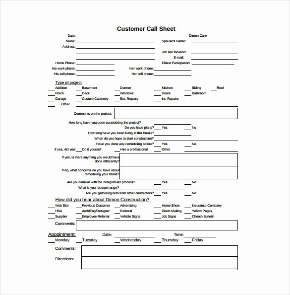 Free Call Sheet Template Awesome Call Sheet Template 23 Free Word Pdf Documents