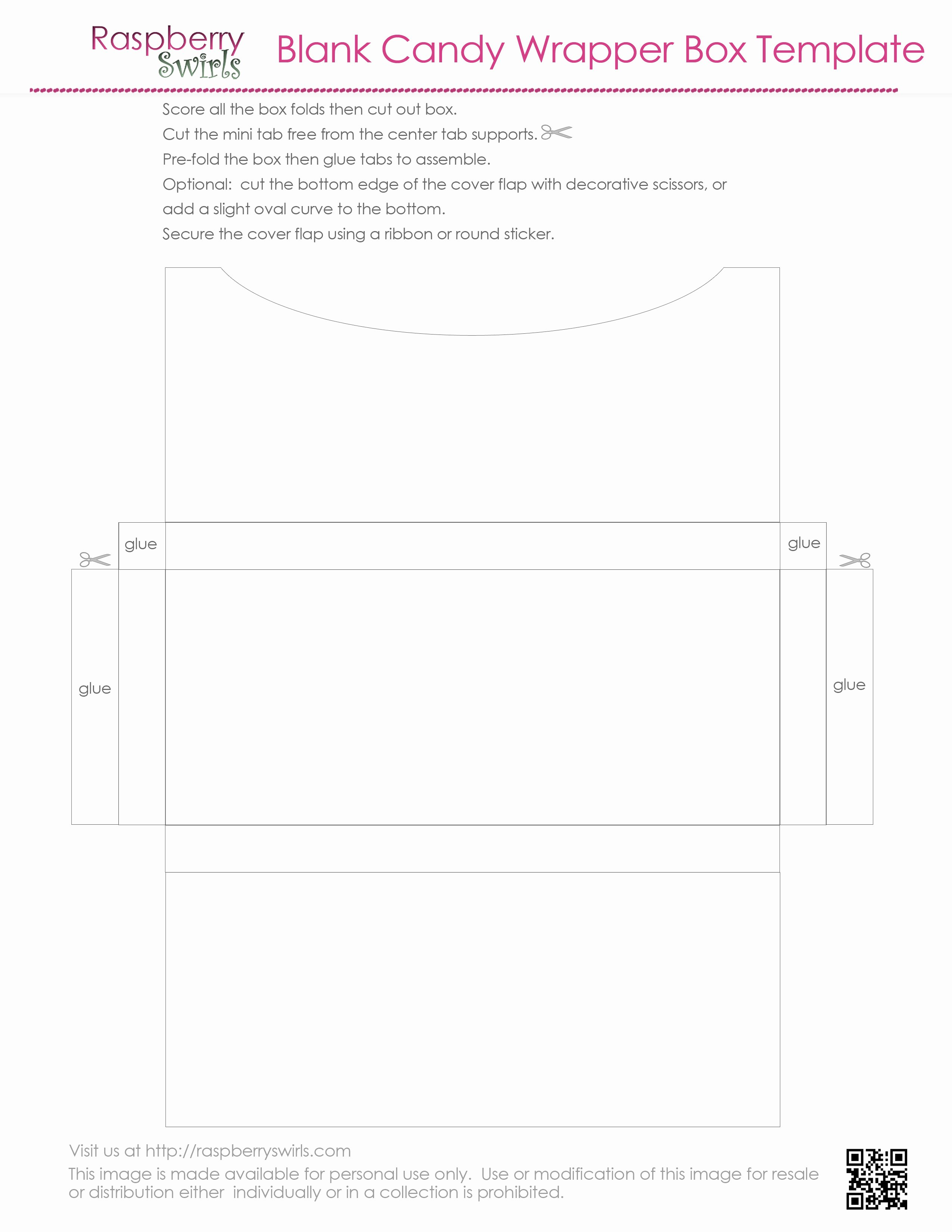 Free Candy Wrapper Template Beautiful 7 Best Of Free Printable Candy Box Templates Free