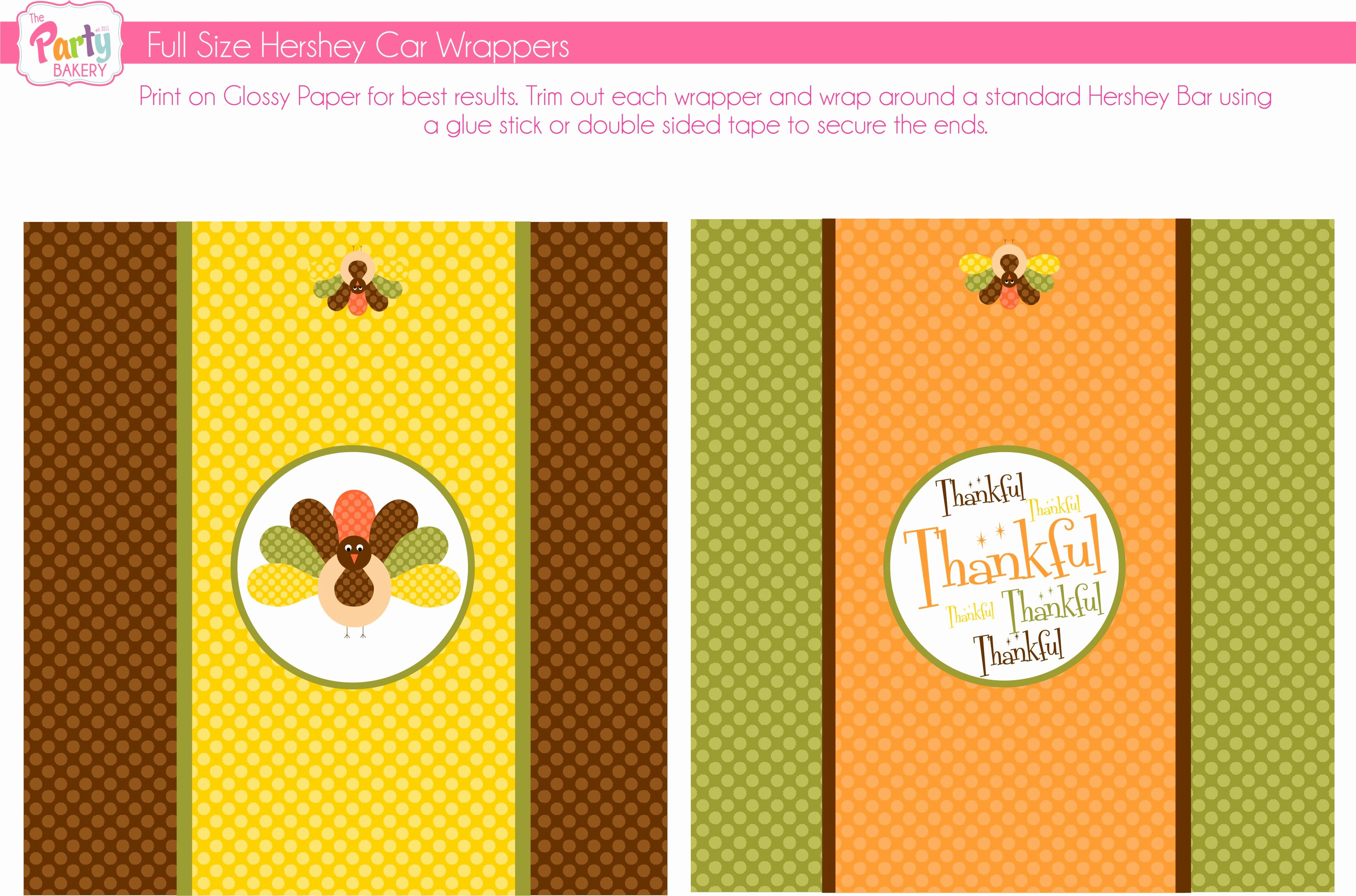 Free Candy Wrapper Template Fresh Free Thanksgiving Printables From the Party Bakery