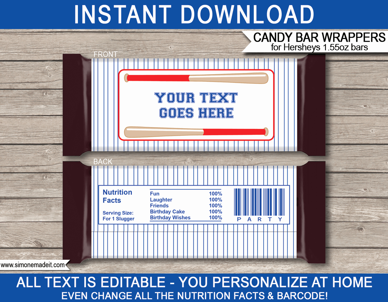Free Candy Wrapper Template Luxury Baseball Hershey Candy Bar Wrappers