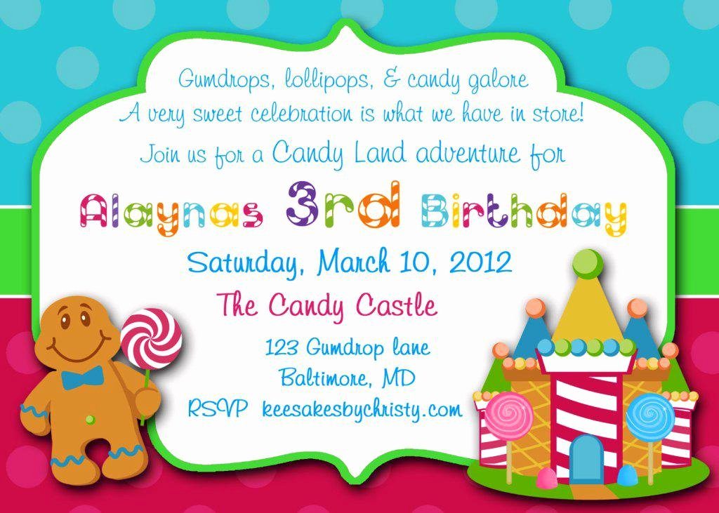 Free Candyland Invitation Template Best Of Candyland Baby Shower Invitations Party Xyz