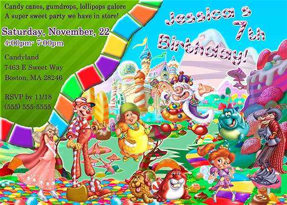 Free Candyland Invitation Template Elegant 14 Wonderful Candyland Invitation Templates Psd Ai
