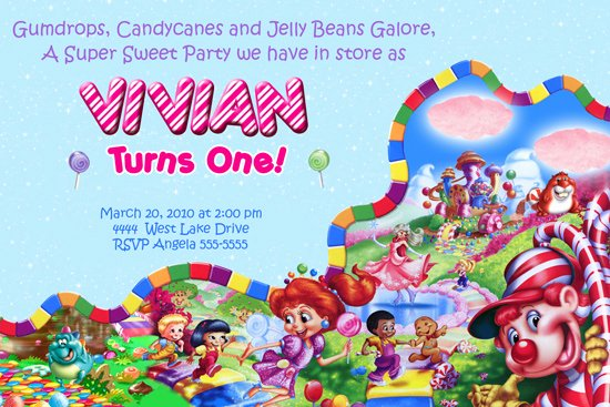 Free Candyland Invitation Template Elegant Candyland Party Invitations Template