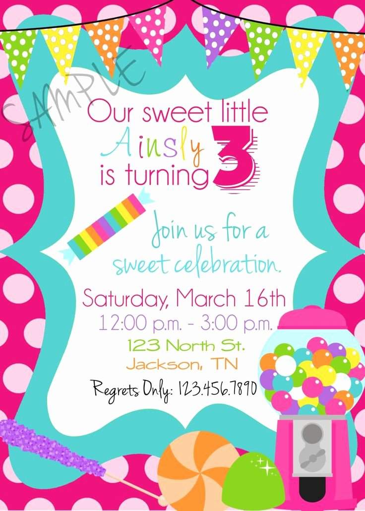 Free Candyland Invitation Template Fresh 105 Best Images About Sweet On Pinterest