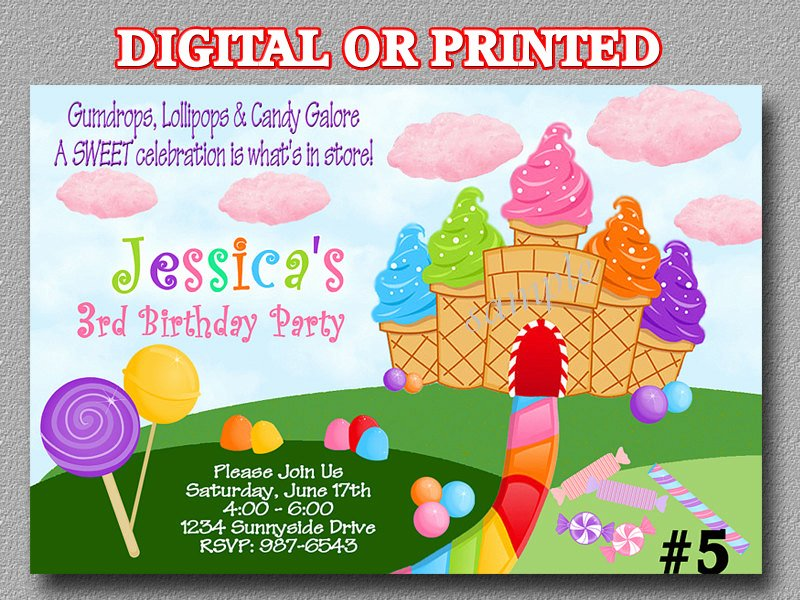 Free Candyland Invitation Template Inspirational the Gallery for Candyland Invitation Template