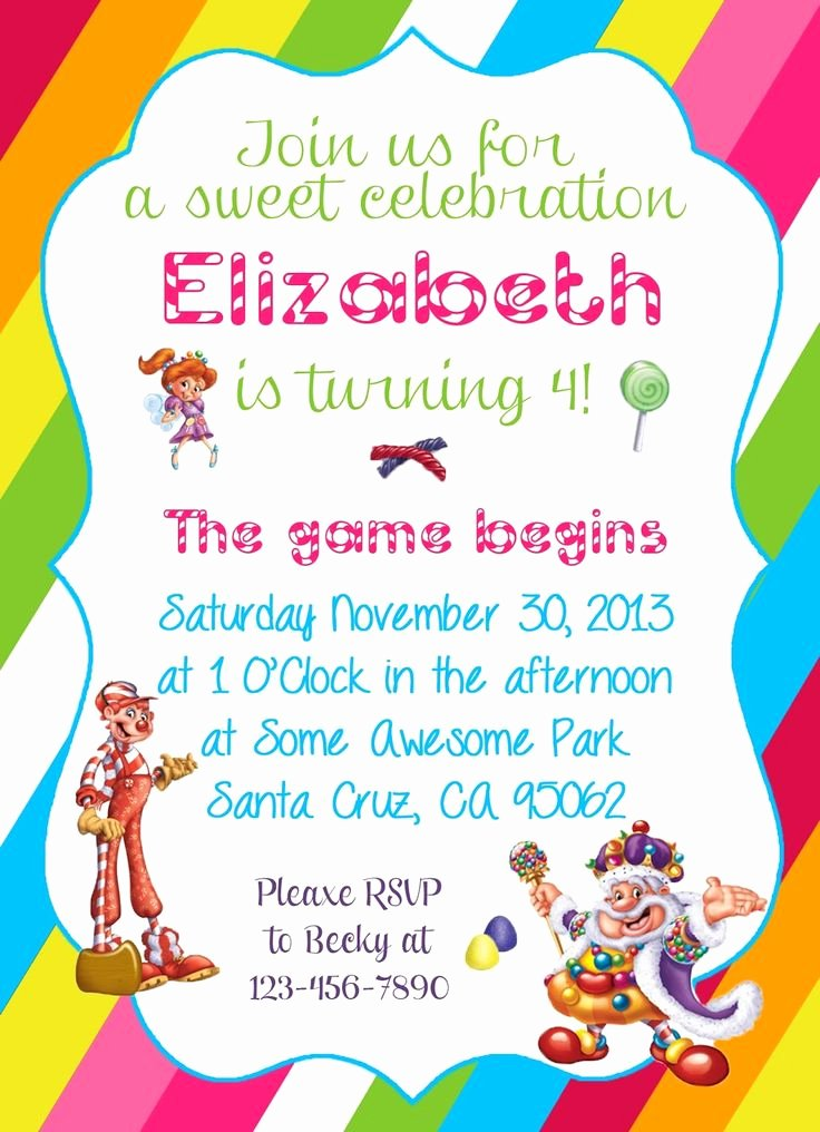 Free Candyland Invitation Template Luxury Diy Design Den Free Candyland themed Party Printable