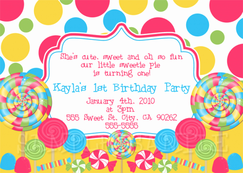 Free Candyland Invitation Template Luxury Free Printable Candyland Invitation Blank Template