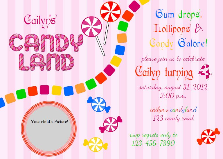 Free Candyland Invitation Template New 26 Of Candy Land Letters Template