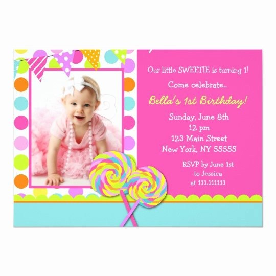 Free Candyland Invitation Template Unique Lollipop Sweet Shoppe Birthday Party Invitation