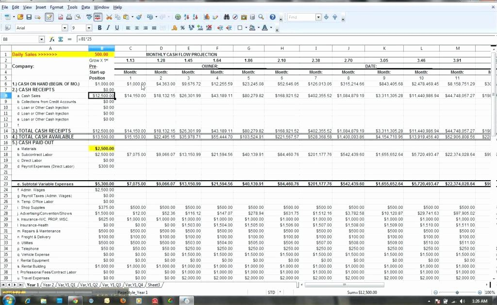 Free Cash Flow Template Awesome Cash Flow Spreadsheet Template Personal Free Excel