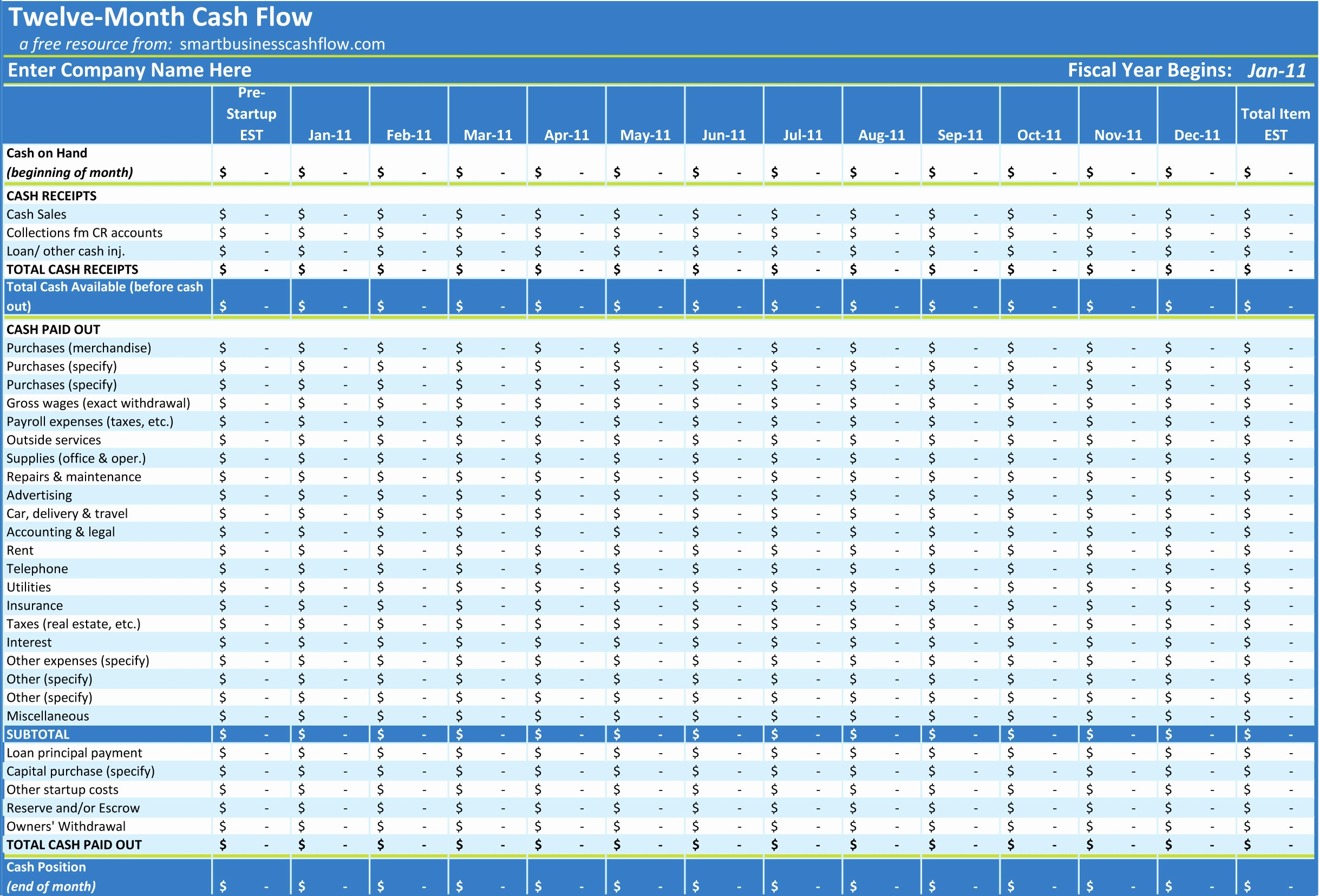 Free Cash Flow Template Inspirational Excel Cash Flow Template Excel Spreadsheet Templates Cash