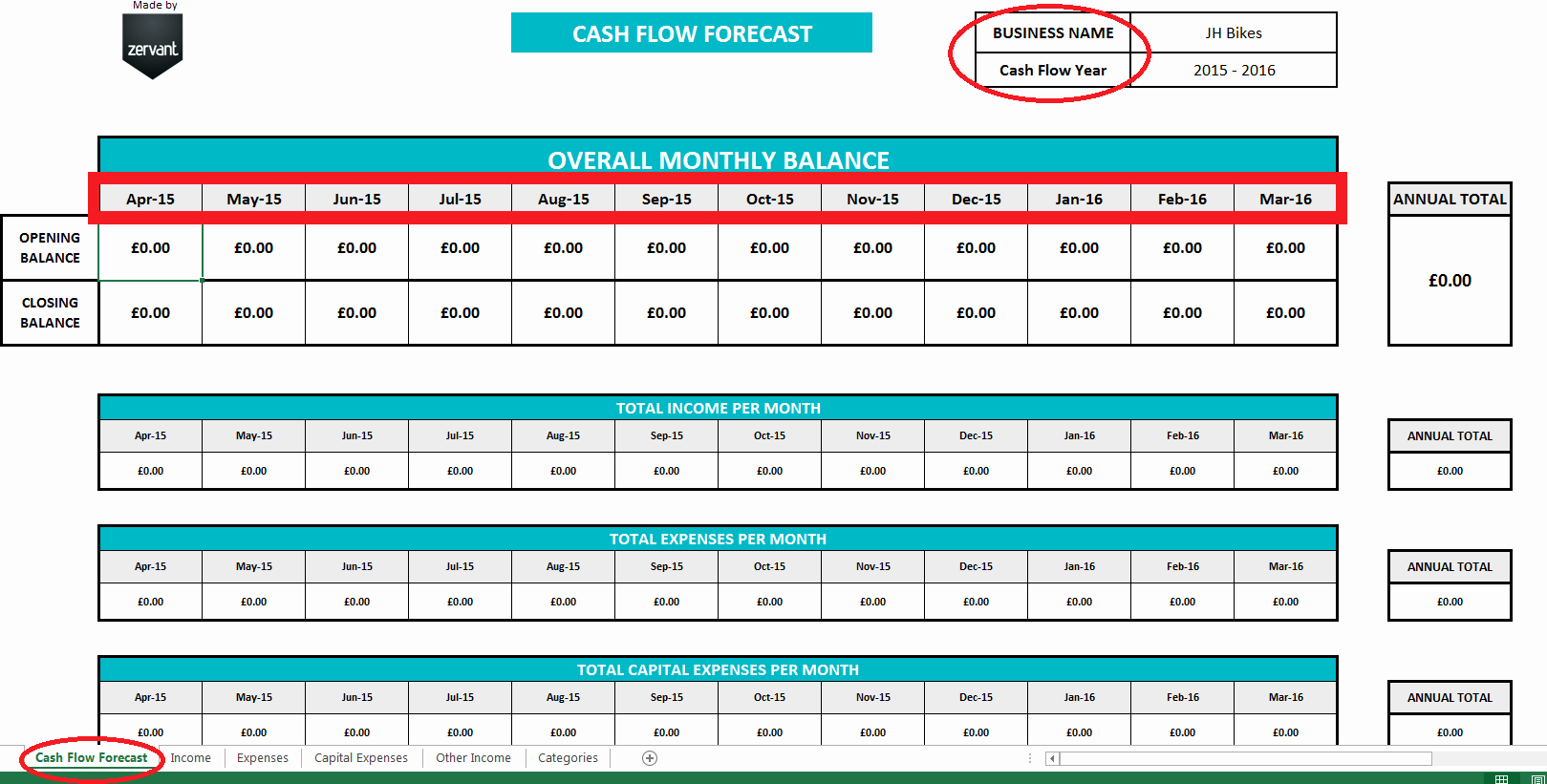 Free Cash Flow Template Inspirational Free Uk Cash Flow Template Zervant Blog