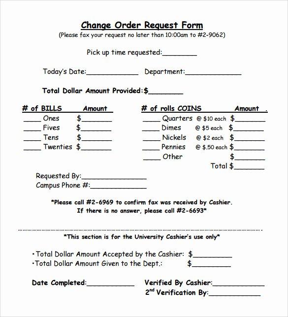 sample change order template
