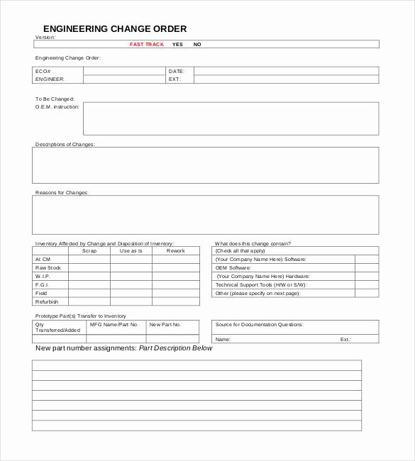 Free Change order Template Unique 24 Change order Templates Pdf Doc