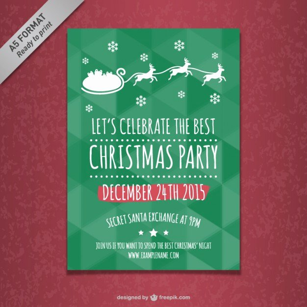 Free Christmas Poster Template Awesome Christmas Party Poster Template Vector