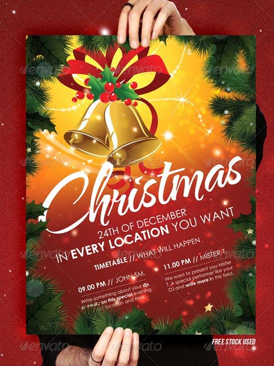 Free Christmas Poster Template Elegant Christmas Brochure Templates Free