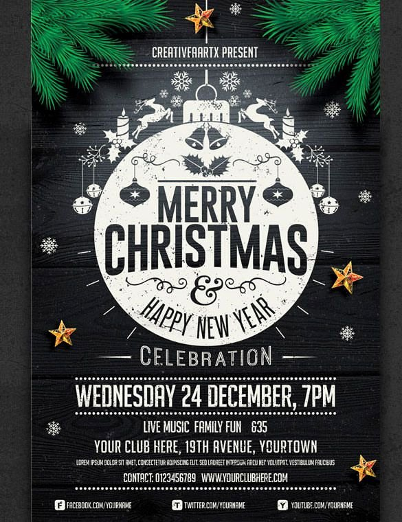 Free Christmas Poster Template Lovely 57 Christmas Flyer Templates – Free Psd Ai Illustrator
