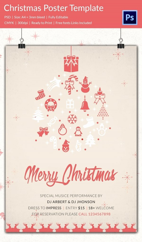 Free Christmas Poster Template Luxury 75 Christmas Poster Templates Free Psd Eps Png Ai